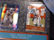 MIAMI DOLPHINS Sports Memorabilia ZACK THOMAS #54 PLAQUE